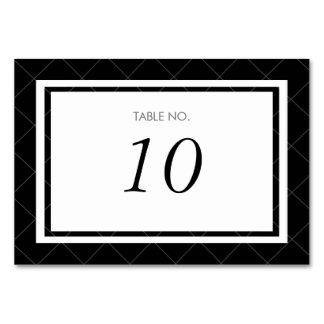 Tarjeta moderna del número de la tabla del corazón
