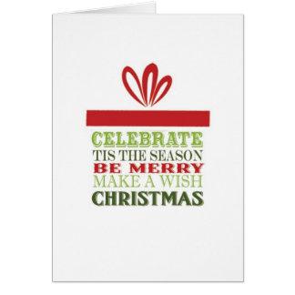 tarjeta moderna del regalo de Navidad del vintage