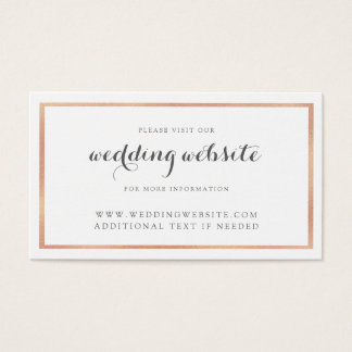 Tarjeta moderna del Web site del boda de la