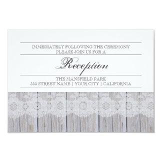 Tarjeta moderna rústica de la recepción invitación 8,9 x 12,7 cm