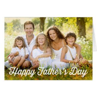 Tarjeta moderna simple de la foto del día de padre