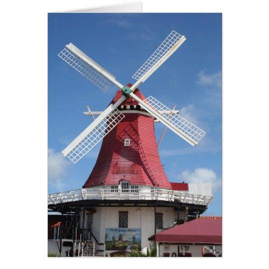 Tarjeta Molino de viento de Aruba