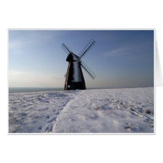 Tarjeta Molino de viento del invierno