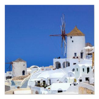 Tarjeta Molino de viento en Oia, Santorini, Grecia