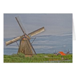 Tarjeta molinoes de viento del sitio del patrimonio