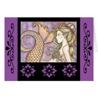 Tarjeta Molly Harrison del arte de la sirena de No