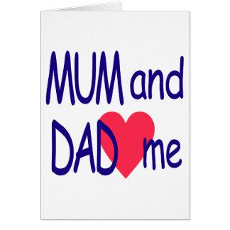 Tarjeta Momia y papá yo, mamá