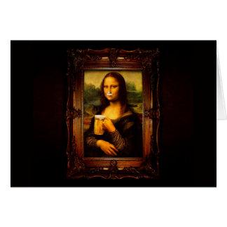 Tarjeta Mona Lisa - cerveza de Mona Lisa - Lisa-cerveza