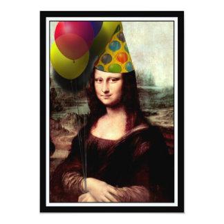 Tarjeta Mona Lisa - el chica del cumpleaños