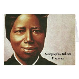 Tarjeta Monja auxiliar de Josephine Bakhita del santo