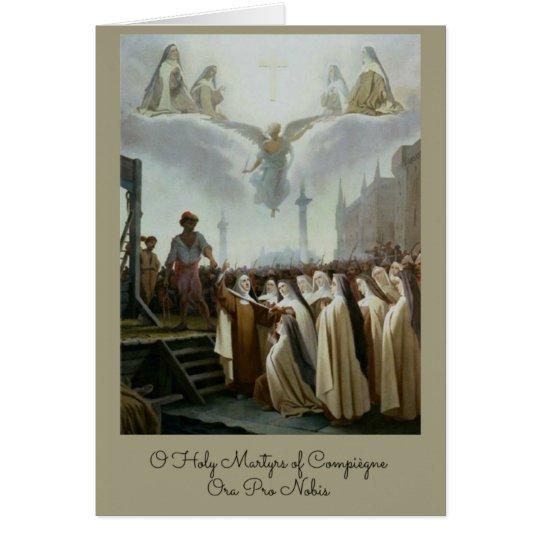 Tarjeta Monjas carmelitas bendecidas Compiegne de los