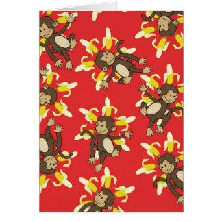 Tarjeta Mono Notecards de la flor del plátano