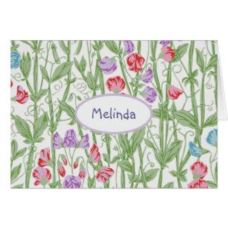 Tarjeta Monograma personalizado estampado de flores del