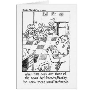 Tarjeta Monos antifumador de Jim Kraft