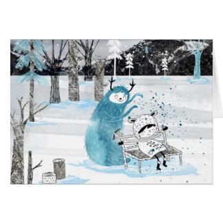 Tarjeta Monstruo de la nieve