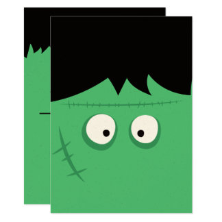 Tarjeta Monstruo lindo de Frankenstein del truco o de la