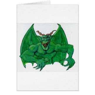 Tarjeta Monstruo verde