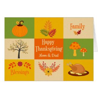 Tarjeta Montaje de la acción de gracias