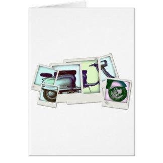 Tarjeta montaje de la foto del lambretta
