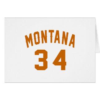 Tarjeta Montana 34 diseños del cumpleaños