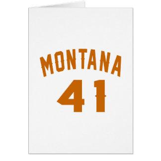 Tarjeta Montana 41 diseños del cumpleaños