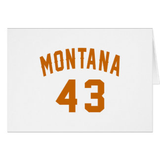 Tarjeta Montana 43 diseños del cumpleaños