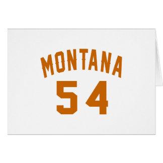 Tarjeta Montana 54 diseños del cumpleaños