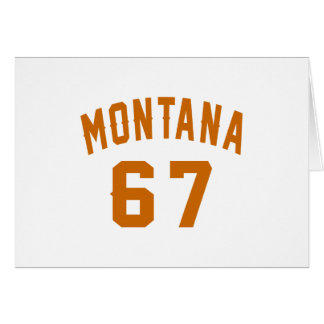 Tarjeta Montana 67 diseños del cumpleaños