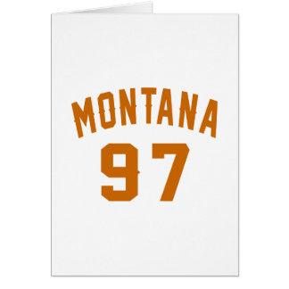 Tarjeta Montana 97 diseños del cumpleaños