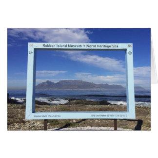 Tarjeta Montaña de la tabla de marcos de Suráfrica, isla