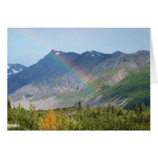 Tarjeta Montaña Raibow Alaska