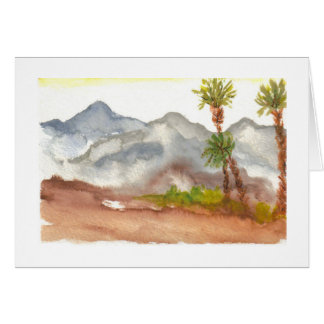 Tarjeta Montañas del desierto