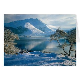 Tarjeta Montañas occidentales Escocia de Ballachulish