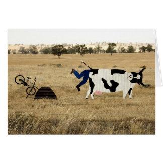 Tarjeta Montar a caballo áspero