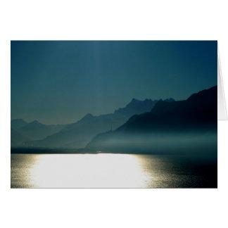 Tarjeta Montreux el lago Lemán