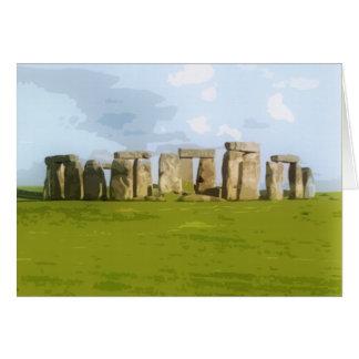 Tarjeta Monumento de piedra del círculo de Stonehenge