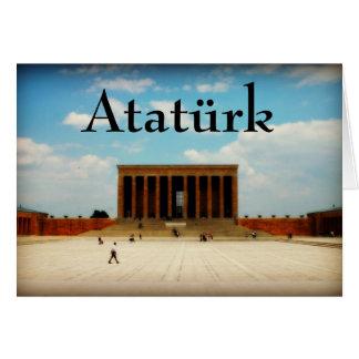 Tarjeta Monumento hermoso de Ataturk en Ankara