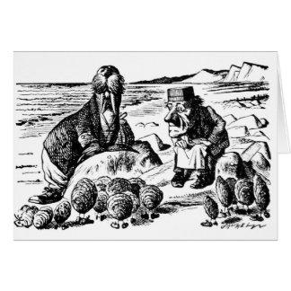 Tarjeta Morsa, Carpeter y ostras