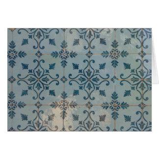 Tarjeta Mosaicos del vintage de Portugal