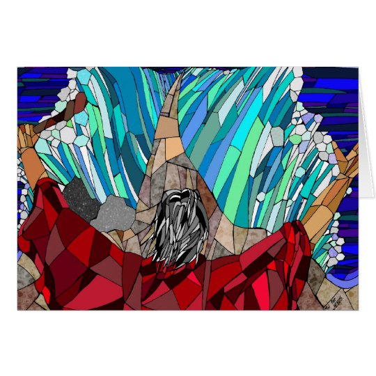 Tarjeta Moses que divide el Mar Rojo
