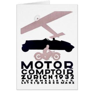 Tarjeta Motor Comptoir Zurich 1932