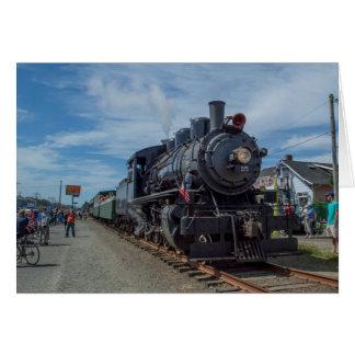 Tarjeta Motor de vapor escénico del ferrocarril de la