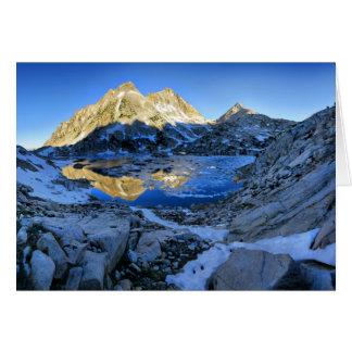 Tarjeta Mt Izaak Walton sobre la salida del sol del lago