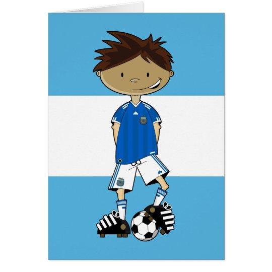 Tarjeta Muchacho argentino del fútbol del mundial
