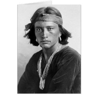 Tarjeta Muchacho de Navajo