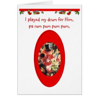 Tarjeta Muchacho del batería del navidad