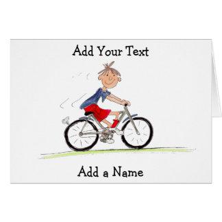 Tarjeta Muchacho en el ejemplo de la bici