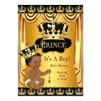 Tarjeta Muchacho étnico del príncipe fiesta de bienvenida