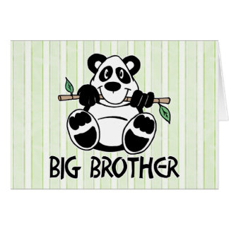 Tarjeta Muchacho hermano mayor de la panda
