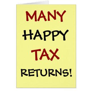 Tarjeta ¡Muchas declaraciones de impuestos felices!